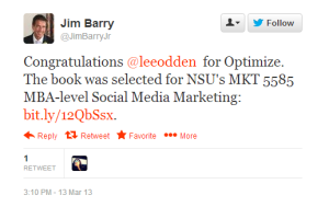Optimize selected for marketing course book