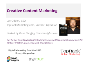 Get Better Results With Creative Content Marketing - BrightTALK